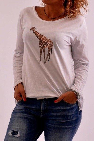 Bluzka bała z żyrafą