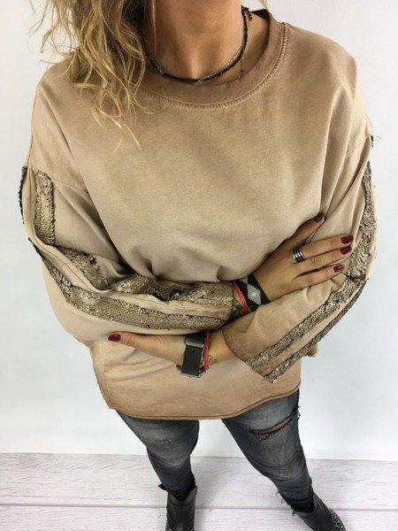 Bluzka camel cekiny