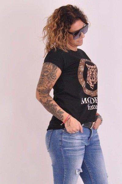 Bluzka czarna z lwem