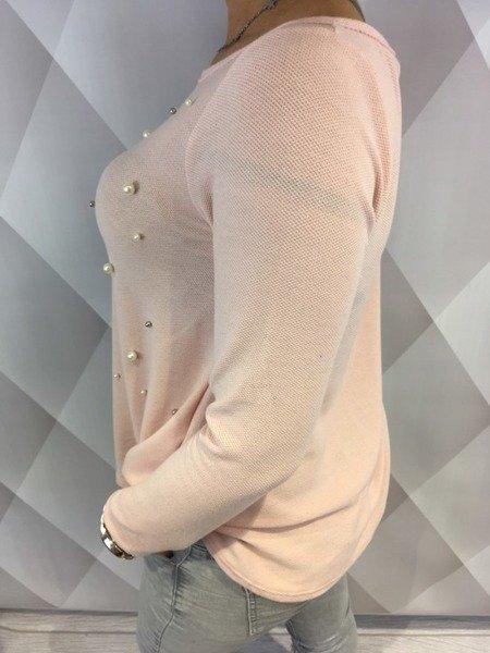 Bluzka róż perły