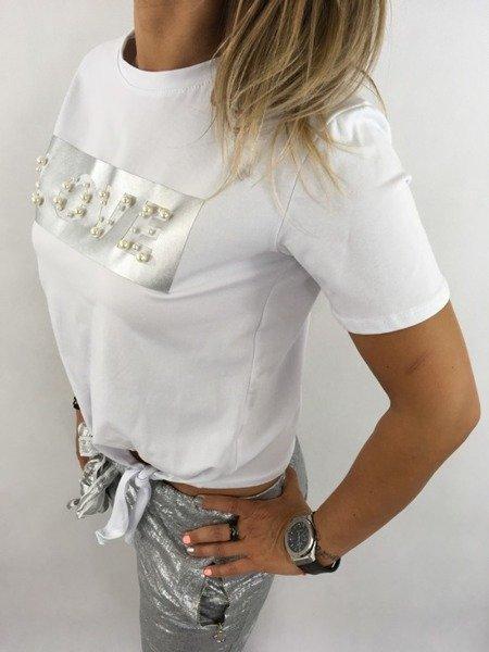 Bluzka srebrny napis LOVE