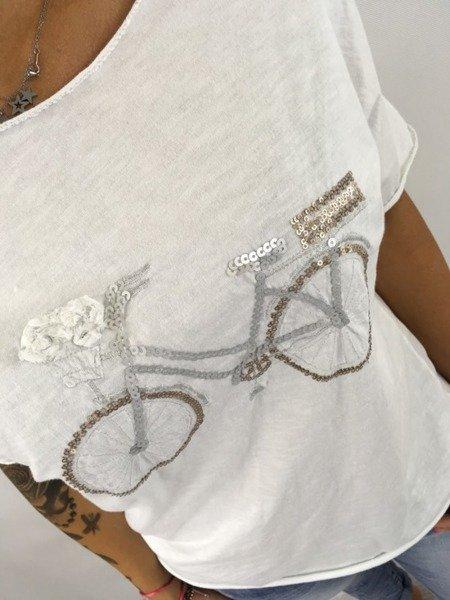 Bluzka w cekinowy rower