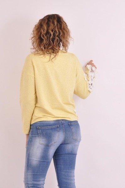 Bluzka żółta gipiura rękaw