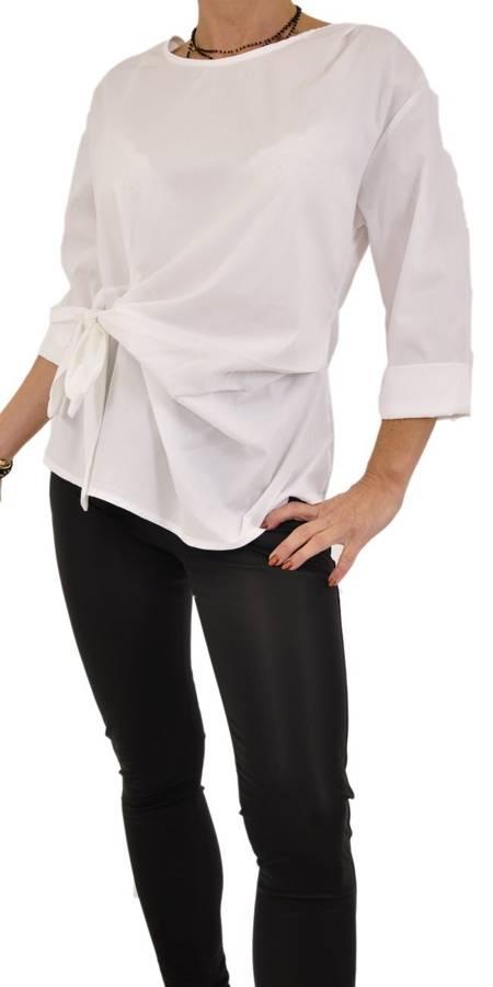 Koszula biała wiązana z boku