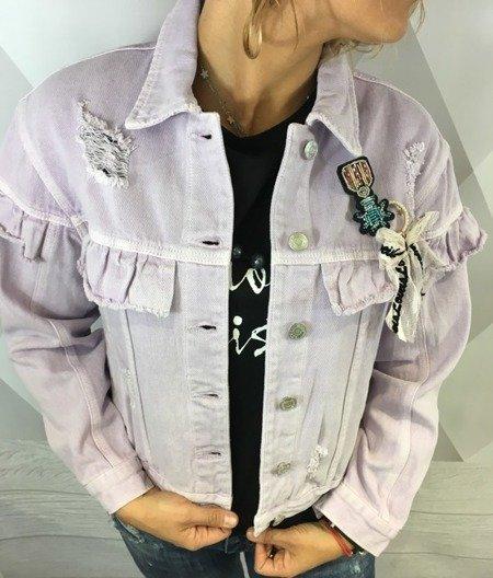 Kurtka jeansowa fioletowa S.