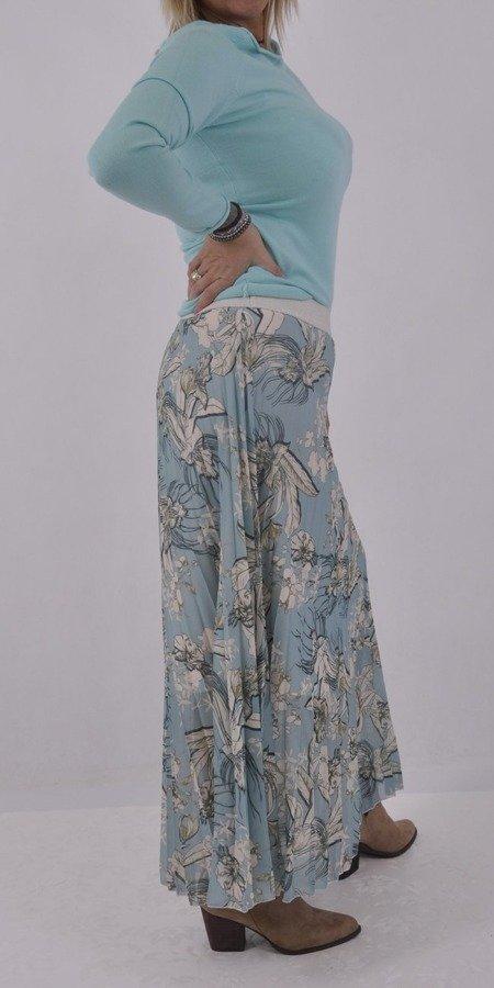 Spódnica z tiulu niebieska wzór