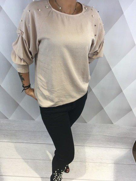 Spodnie czarne perły S