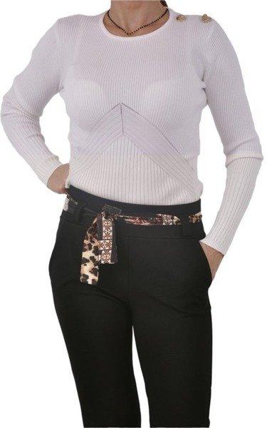Spodnie czarne z paskiem L