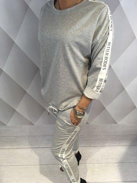 Spodnie dresowe z lampasem w napisy