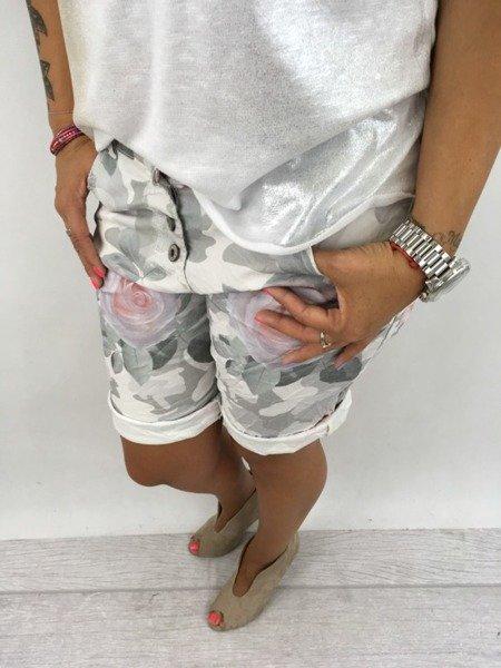 Spodnie moro róże M