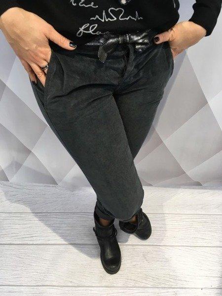 Spodnie szare wiązane na wstążkę S