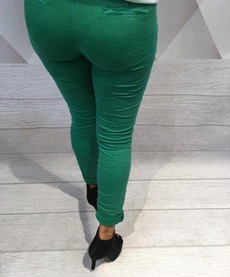 Spodnie zielone rurki L.