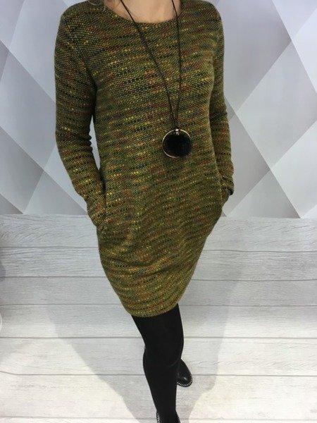 Sukienka melanżowa miodowa