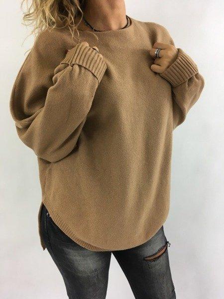 Sweter brązowy