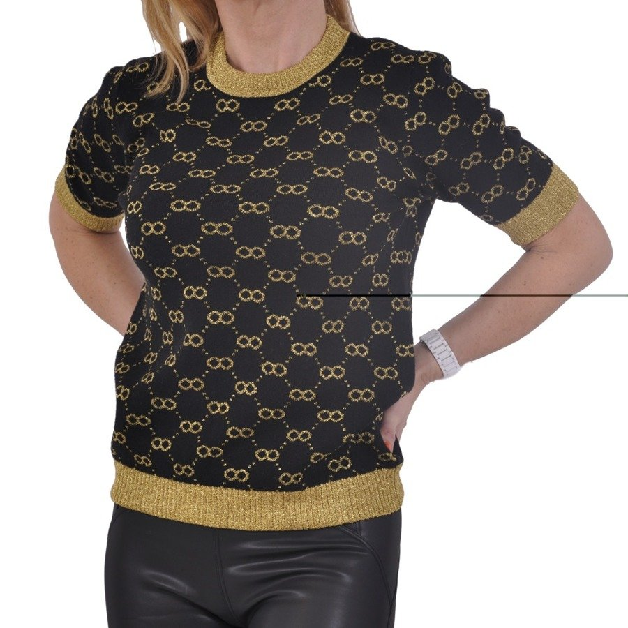 Sweter krótki rękaw wzór