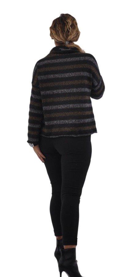 Sweter paski miodowe