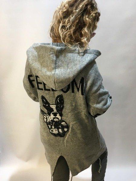 Sweter-płaszcz z kapturem feeedom