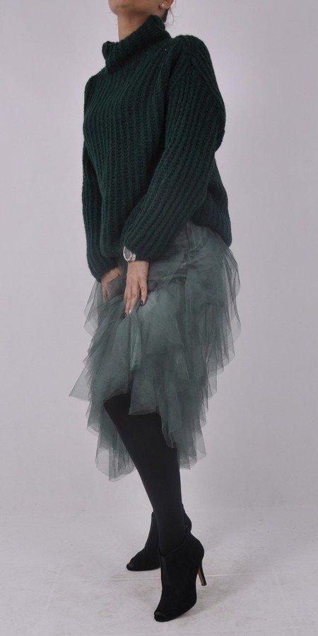 Sweter zielony na stójce