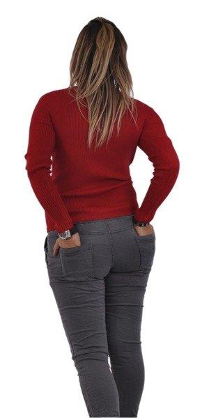 Sweterek czerwony prążek