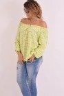 Bluzka kwiatki limonka