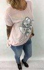 Bluzka różowa kwiat wiązana