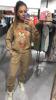 Cudowna bluza camelowa z misiem S/M