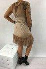 Halka sukienka brąz