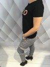 Spodnie bojówki popielate XL