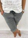 Spodnie lamówka cekin