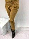 Spodnie miodowe wiązane w pasie L